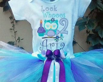 Owl Look Whooos 2 Birthday Outfit Owl Birthday Shirt Owl 2nd Birthday Outfit Owl Personalized