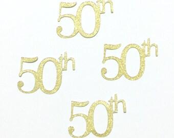 50th Glitter Die Cut Wedding Anniversary Birthday Handmade Scrapbooking Stationery Party Invitations Decorate