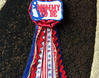 Mommy To Be Nautical Theme Pin -- Baby Shower Pin