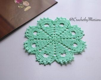 Mint mini doily Crochet doily Round crochet doily wedding doily crochet lace doily Crochet table decor Crochet placemat crochet item