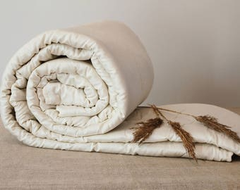 KING COMFORTER, ready to ship - all seasons wool filled duvet, home comforters.
