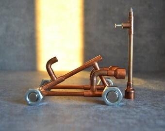 COPPER PIPE CAR 1 pen set, copper pen, car lover pen, anniversary pen, desk pen, vehicle pen, mad-max pen, automotive industry pen