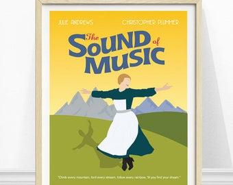 The Sound of Music Poster, 1960s movie, Minimalist Poster, Movie Poster, Movie Artwork