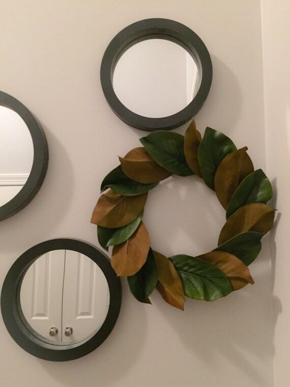 magnolia kranz 13 magnolie bl tter kranz kerze ring mini. Black Bedroom Furniture Sets. Home Design Ideas