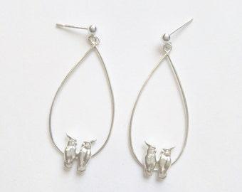 Sulphur Crested Cockatoo Earrings, yellow crested cockatoo Earrings, bird earring, Bird Jewelry, bird dangle earrings, bird dropped earrings