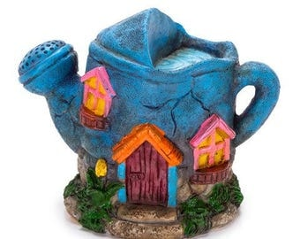Mini Fairy Garden House - Watering Can Design - 3.62 x 4.72 inches       1613-217