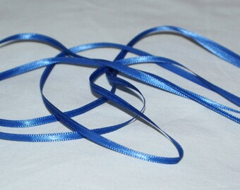 3 mm dark blue /royal blue double sided satin ribbon-5 metres
