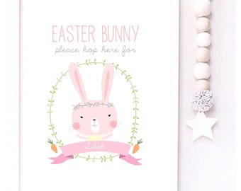 Easter Bunny Please hop here for Personalised Easter print