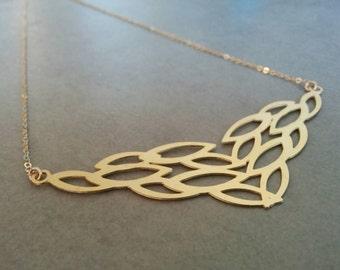 Gold Leaf Necklace, Leaf Necklace, Gold Necklace, Gold Leaf, Leaf Pendant, Leaf Jewelry, Wedding Necklace, Leaf Necklace Gold, Gold Pendant