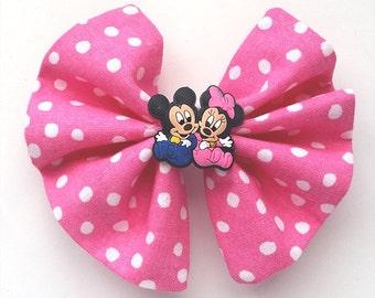 Pink Hair Clip - Mouse Hair Bow