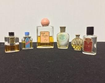 6 vintage Perfume bottles