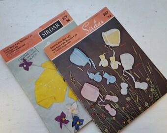 REDUCED IN PRICE - Vintage Sirdar Knitting Patterns / 207 & 228 / Retro Knitting / Knitting Pattern / Wool