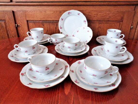 fine bone china 24 piece tea set bavarian tea set. Black Bedroom Furniture Sets. Home Design Ideas