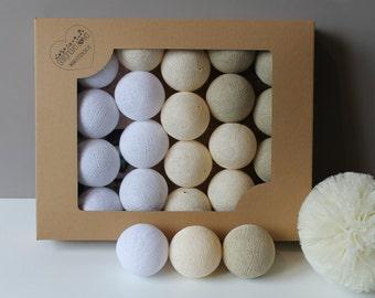 Cotton Balls Pearl 10 items