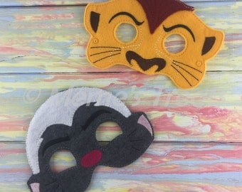 Adventure Felt Mask - Deluxe Felt Mask -- Kids Mask – Costume – Dress-Up -- Halloween -- Pretend Play -- Inspired by The Lion Guard