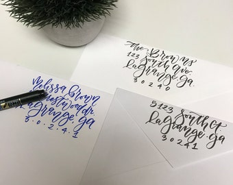 Calligraphy Return Address - Digital Handwritten File