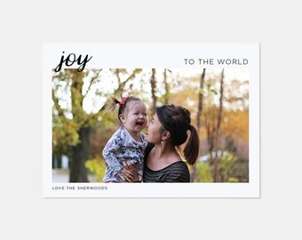JOY | Custom Christmas Card