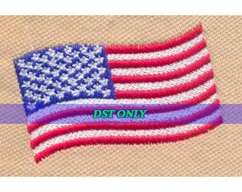 American USA Flag Embroidery Design - Instant Digital Download DST ONLY