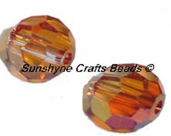 Swarovski Crystal Beads 12 Pcs 5000 Series CRYSTAL ASTRAL PINK 6MM Faceted Round Bead
