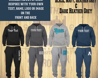 Personalised Custom Jogging Suit set - Hoodie and Sweatpants - Sport- Exercise - Unisex - Kids - Teens - Personalised Gift