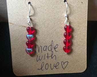 Little Red Heart earrings
