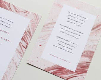 Marble Information Card | Marble Insert, Wedding Invitation Insert Card, Modern Info Card, Marble, Accommodations Card, Directions Card