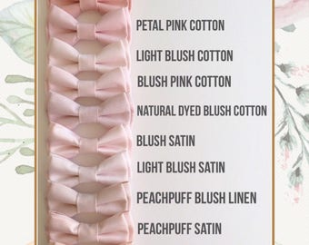Blush pink bowtie for groom, groomsmen, ring boys - Daddy and son -baby, toddler, boy's bowties- Ring bearer's bow tie- blush bow ties-