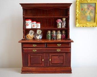 Dollhouse kitchen wood cabinet dolls house multipurpose storage 1:12 th scale miniature furniture