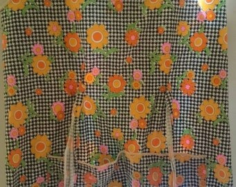 VINTAGE 1970s psychedelic apron