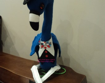Mr B Flamingo- debonair- decorative only- on stand. SALE.