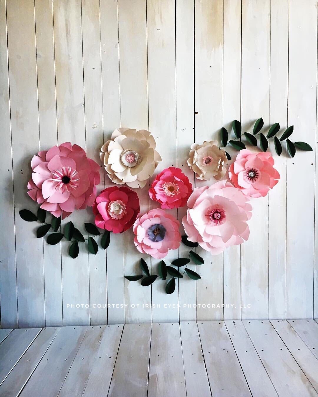 Diy Baby Nursery Floral Wall Decor: Paper Flowers Baby Girl Nursery Room Paper Flowers Wall