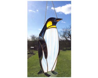 Stained Glass Penguin Sun-catcher
