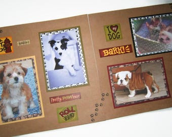 Dog Scrapbook Pages - Puppy Scrapbook Pages - Premade Dog Pages - Premade Puppy Pages - Dog Scrapbooking -  Puppy Scrapbooking - Pet Pages