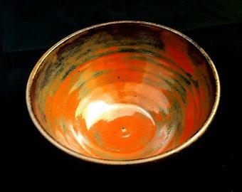 Rustic Red/Brown Small Ceramic Bowl