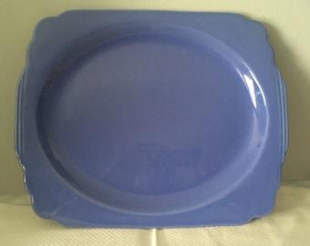Vintage Homer Laughlin Riviera Mauve Blue Platter