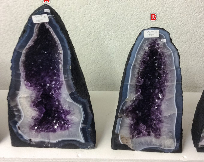 "20"" Amethyst Cathedral Great Price- 20 inches tall From Brazil- Home Decor \ Amethyst Crystal \ Crystal \ Geode \ Geodes \ Amethyst cluster"