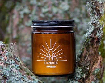 Peppermint 8oz Soy Candle
