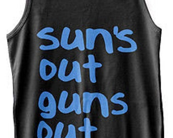 Suns Out Guns Out Mens Funny Jump Street Vest Summer Festival Tank Top New S-xxl