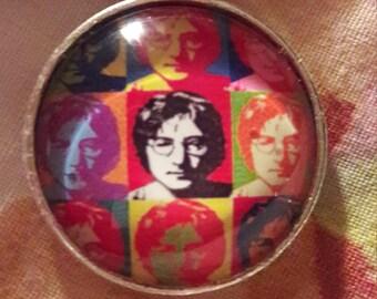 John Lennon / Andy Warhol inspired pendant