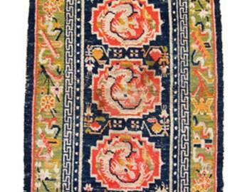 Antique Tibetan Rug (13422)