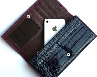 Womens Wallet, Leather Wallet, Purple Wallet,  Purple Purse