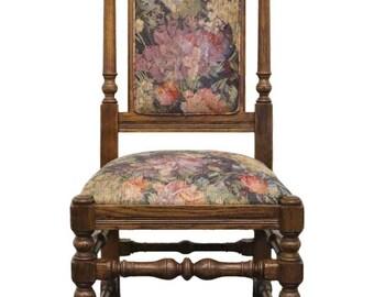 ETHAN ALLEN Royal Charter Oak High Back Side Chair 16-6011 Finish 220