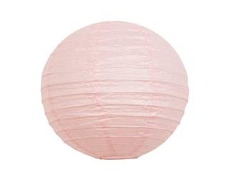 Light Pink Paper Lantern, Pink Party Decor, Hanging Lantern, Light Pink Baby Shower Decor, Chinese Lantern, Light Pink Wedding Decor.