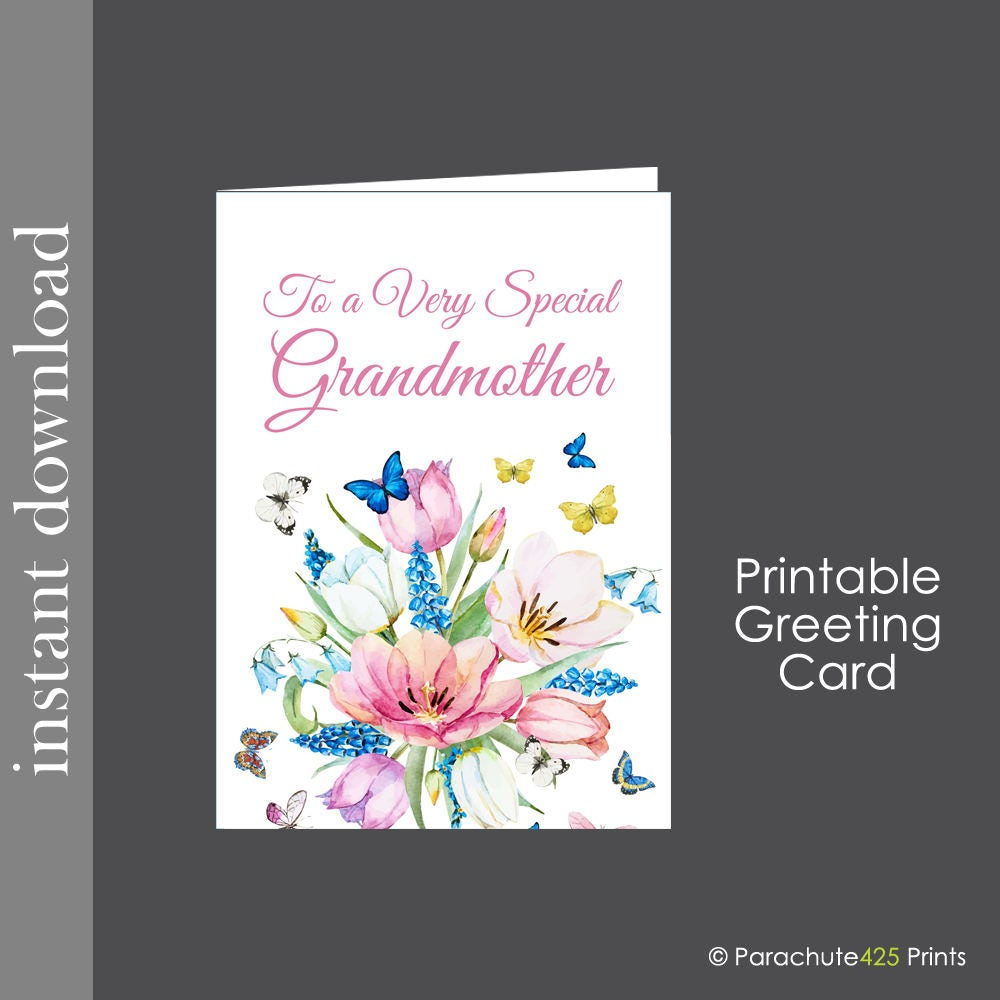 Birthday Cards For Grandma Printable ~ Grandmother card printable grandma mothers day