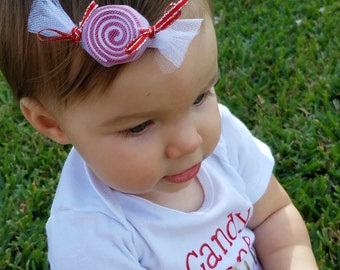 You Pick 2 Peppermint Candy Hair Clipies--Girl Hair Clips