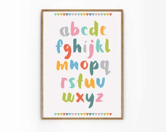 ABC poster - A2 B2 Alphabet poster - Letter Sound - lower case letters - writing - learning poster - alphabet identification - Jubileee