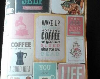 Envelope Journal - 'Tea Break'  Vintage Style