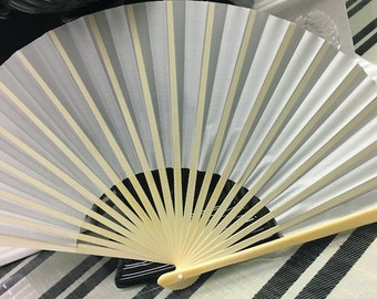 Ivory silk fans, for wedding, party, bridesmaids, for women of a certain age...favor