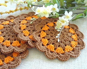 Crochet Coasters Placemat Table linens Crochet Doilies Tablecloth Crochet Doily Round Cotton Table Home Decor Crochet Coaster