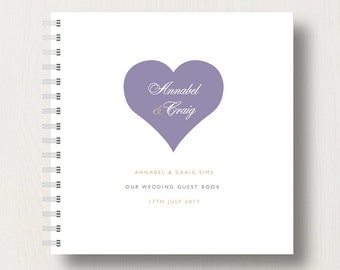 Personalised Heart  Wedding Guest Book or Album